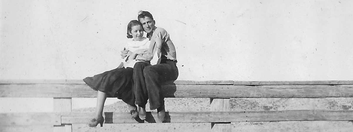 Joe and Mildred Chandler, 1940s   Chandler Ranch